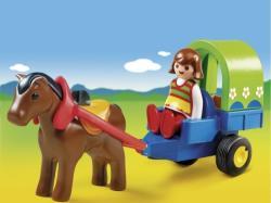 Playmobil 1.2. 3 Ponei cu trasura (PM6779)