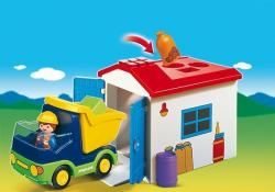 Playmobil 1.2 3 Camion cu garaj (PM6759)