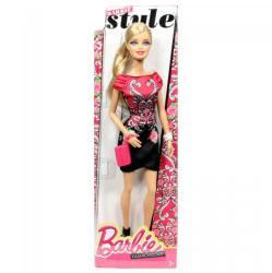 Mattel Barbie - Élet az álomházban - divatos babák - Barbie elegáns rózsaszín-fekete ruhában