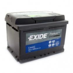 Exide Excell 60Ah 540A jobb+ (EB602)