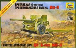 Zvezda British 6 lb MK-1 gun 1/35 3518