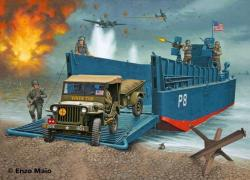 Revell LCM3 50ft Landing Craft and Jeep with Trailer 1/35 3000