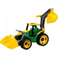 LENA Traktor homlokrakodóval és markolóval 70cm