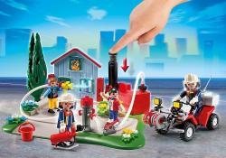 Playmobil Brigada de Pompieri si Vehicul (PM5169)