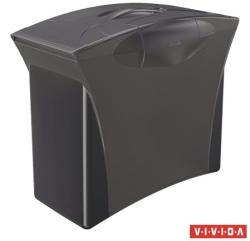 Esselte Europost Vivida Függőmappa tároló műanyag fekete 5 db függőmappával (623767)