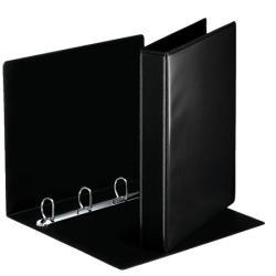 Esselte Gyűrűs könyv panorámás 4 gyűrű 50 mm A4 PP/PP fekete (49717)