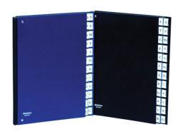 DONAU Előrendező A4 A-Z karton sötétkék (8694SK)