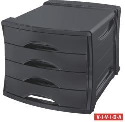 Esselte Europost Vivida Irattároló 4 fiókos műanyag fekete (623761)