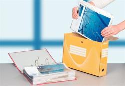 Esselte Standard Archiváló doboz 100 mm A4 karton sárga (128423)