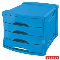 Esselte Europost Vivida Irattároló 4 fiókos műanyag kék (623961)