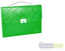Panta Plast Omega Harmonika táska A4 7 rekeszes PP zöld (4104904)