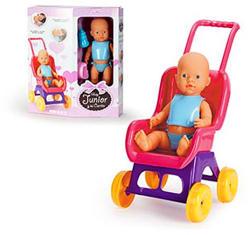 Falca Toys James pisilő baba szett babakocsival