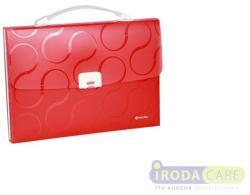 Panta Plast Omega Harmonika táska A4 7 rekeszes PP piros (4104905)