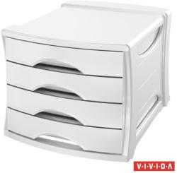 Esselte Europost Vivida Irattároló 4 fiókos műanyag fehér (623959)