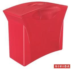 Esselte Europost Vivida Függőmappa tároló műanyag 5 db függőmappával piros (623964)