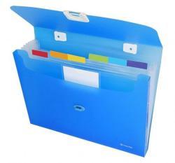 Panta Plast Omega Harmonika táska 7 rekeszes A4 PP kék (4104903)