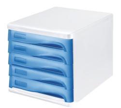 HELIT Irattároló 5 fiókos műanyag szürke/kék (6129484)