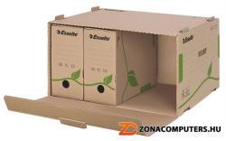 Esselte Eco Archiváló konténer előre nyíló karton barna (623919)