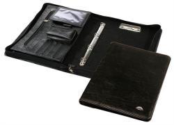 Panta Plast Konferencia mappa cipzáras A4 műbőr fekete (INP3170042F)