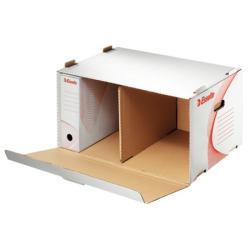 Esselte Standard Archiváló konténer előre nyíló karton fehér (128910)