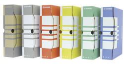DONAU Archiváló doboz 100 mm A4 karton citromsárga (7661S)