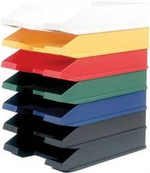 HELIT Economy Irattálca műanyag piros (INH2361625)
