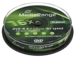 MediaRange DVD-R 4,7GB 16x - henger 10db
