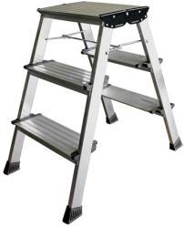 KRAUSE Treppo - 3 lépcsőfokos fellépő, alumínium (UL32) (126030)