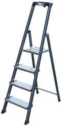 KRAUSE Securo - 6 lépcsőfokos állólétra, eloxált (UL36) (126443)