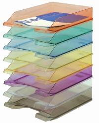 DONAU Irattálca műanyag áttetsző lila (747L)