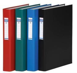DONAU Gyűrűs könyv 2 gyűrű 40 mm A4 PP/karton fekete (3734FK)