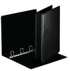DONAU Gyűrűs könyv 4 gyűrű 40 mm A4 PP/karton fekete (3735FK)