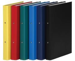 DONAU Gyűrűs könyv 2 gyűrű 35 mm A4 PP/karton fekete (3732FK)