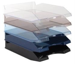 Victoria Irattálca műanyag áttetsző kék (IDTAK)