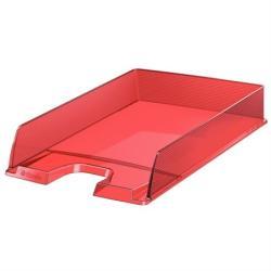 Esselte Europost Irattálca műanyag áttetsző piros (623601)