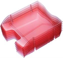 HELIT Nestable Green Logic Irattálca műanyag áttetsző piros (2363520)
