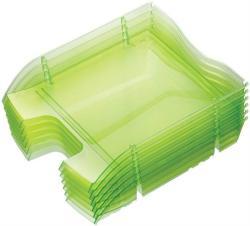 HELIT Nestable Green Logic Irattálca műanyag áttetsző zöld (2363550)