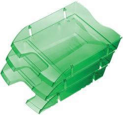 HELIT Nestable Green Logic Irattálca műanyag áttetsző sötétzöld (2363555)