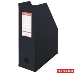 Esselte Vivida Iratpapucs 100 mm PP/karton összehajtható fekete (56077)