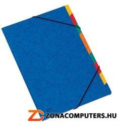 DONAU Gumis mappa regiszteres 9 részes A4 karton kék (8649)