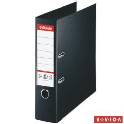 Esselte Standard Plus Vivida Iratrendező 80 mm A4 PP/PP élvédő sínnel fekete (81187)
