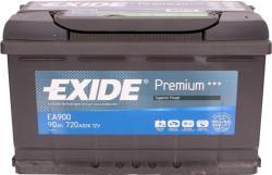 Exide Premium 90Ah 720A Jobb+ (EA900)