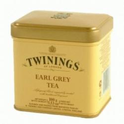 TWININGS Earl Grey szálas fekete tea 100 g fémdobozban