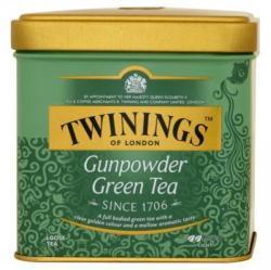 TWININGS Gunpowder Zöld Tea szálas 100 g fémdobozos