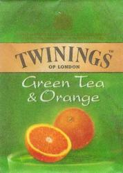 TWININGS Zöld Tea narancsos 25 filter