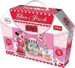 Trefl Glam Puzzle - Minnie egér 50 db-os csillámos (14803)
