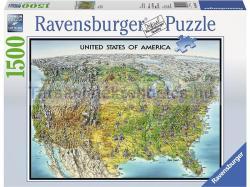 Ravensburger USA térkép 1500 db-os (16313)