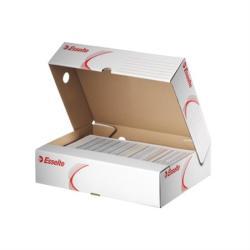 Esselte Standard Archiváló doboz 80 mm A4 karton felfelé nyíló fehér (128004)
