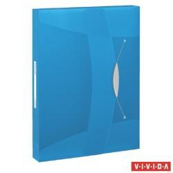 Esselte Vivida Jumbo Gumis mappa 40 mm  A4 PP kék (624047)
