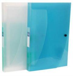 Viquel Propyglass Harmonika mappa 12 rekeszes PP áttetsző kék (118646)